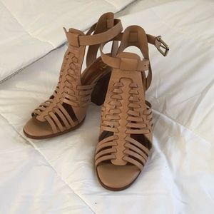 GB Tan Heel Sandals